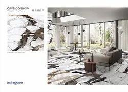 Multicolor Polished Glazed Porcelain Tiles, Usage Area: floor, 600 mm x 600 mm