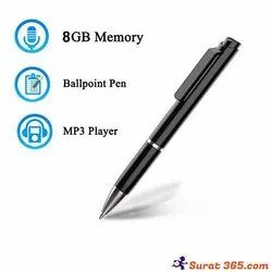 Audio Pen Camera Voice Recorder 10 Hour Battery Backup, Memory Size: 8 Gb