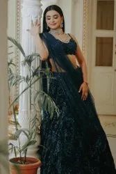 Present Georgette With Heavy Sequence Embroidery Work Lehenga Choli