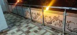 Panel Floor Mounted Designer Glass Balcony Railing