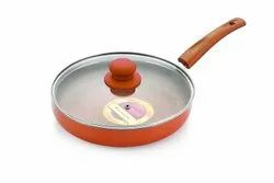 Nirlon Non-Stick Fry Pan Ultimate Induction Base (With Glass LiD)