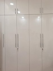 6.5 Feet White Wooden Bedroom Wardrobe, For Home