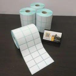 Plain Barcode Sticker Roll 33x25