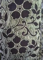 Golden Cotton Black Flower Printed Chenille Fabric, For Curtain, 180 Gsm