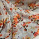 Organza Digital Prints Embroidery Work Fabric