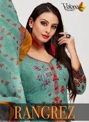 Volono Trendz Rangrez Vol 1 Cotton Print With Embroidery Dress Material Catalog