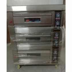 Electric 3 Deck 6 Tray Oven