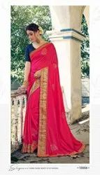 Pink Color Designer Saree