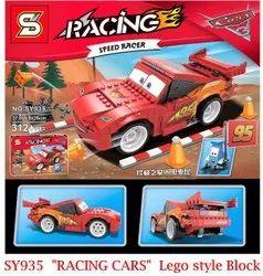 Racing Speed Racing Car Lego Style Block Toy