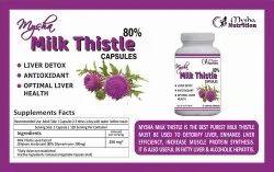 Round herbal capsules Mysha Milk Thistle, For fatty liver