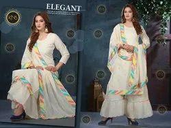 Exclusive Cotton Sharara Suit