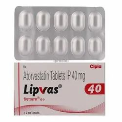 Lipvas 40mg Tablets