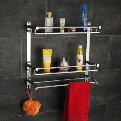 SS Bathroom Wall Shelf