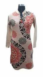 Party Wear Full Sleeve Ladies Fancy Woolen Kurti, Size: Free Size, Wash Care: Machine wash