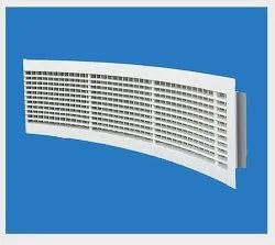 White Aluminium Curved Grill, For Residential, Size: 150mm X 600mm