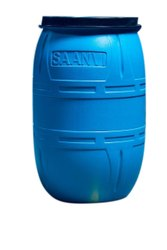 Water Round 200 Liter Saanvi Blue Plastic Drums