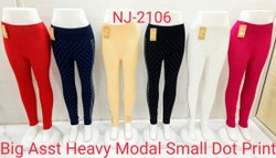 Rishabh Collection Modal Printed Leggings, Size: Free Size