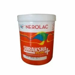 High Gloss Nerolac Suraksha Plus Emulsion Wall Paint For Interior Walls, Packaging Size: 15L