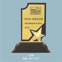 Wooden Base Acrylic Star Trophy