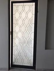 Hinged Decorative Triple Glazed Glass Door, Thickness: 20 Mm