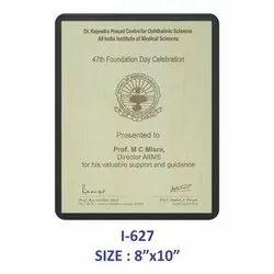 Wooden Certificate Plaque
