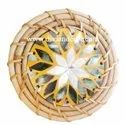 Rattan & Mother Of Pearl Coaster Set