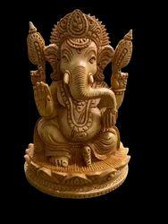 Ganesh Ji  Wooden Murti