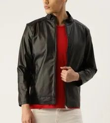 Black Cool Jacket With 3 Pocket, Front Zipper Soft Lambskin Leather