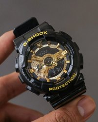 Black GSHOCK GA-110GB-1ADR Analog-Digital Watch for Men