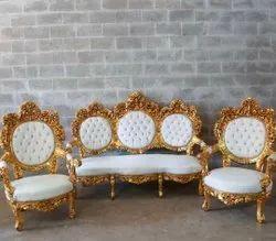 Unity decor Wooden Jaimala Sofa set, For Hotel, Size: 3 Sitter