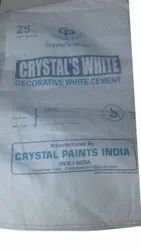 Decorative Crystal White Cement, 25 Kg