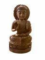 Gautam Buddha Wooden Murti 8 inch