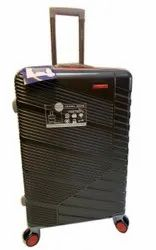 Black Polyester Trolley Suitcase