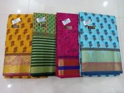Party Wear Gadwal Cotton Saree with Blouse