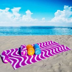 Seetex Stripped Designer Beach Towel, 450-550 GSM