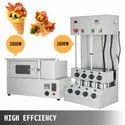 Cone Pizza Moulding Machine And Rotating Oven  Complete Set