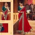 Vichitra Silk Fancy Saree-6 Pcs Set