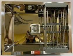 Aarvik Stainless Steel Glossy  Mirror (24/18)  Handmade Kitchen Sinks