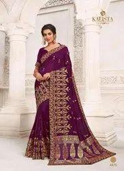 Kalista Fashions Dulhan Vichitra Banarasi Silk Designer Saree Catalog