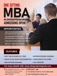 Digree MBA in Entrepreneurship Degree in One Sitting, 1 Year