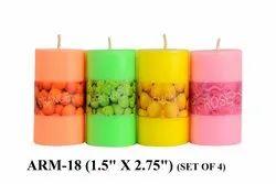 ARM-18 Perfume Pillar Candles 4 PC/PKT