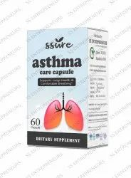 Ssure Herbal Asthma Care 60 Capsule for Supporting Lungs Health & Comfortable Breathing