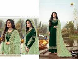 pransul Fashion Semi-Stitched Pakistani Designer Suit for Wedding and Eid Wear, Dry clean
