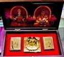 Gold Plated Laxmi Kuber Charan Chinh Yantra Box