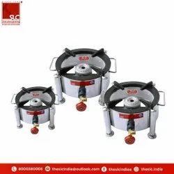SLC Stainless Steel Single Burner Round Bhatti