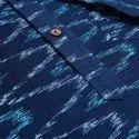 Janasya Men's Blue Cotton Flex Kurta ( Men5025)