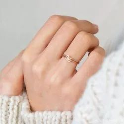 Dainty Initial Ring