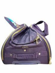Purple Rexine Violet Luggage Bag, Size: 13 X 6x 7 Inch ( W X Dxh)