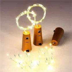 Copper Cork light, For Decoration, Lighting Color: yellow