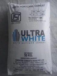 Ultra White Cement, 50 Kg